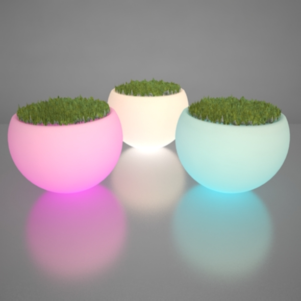 Illuminated Planter - 3DOcean Item for Sale