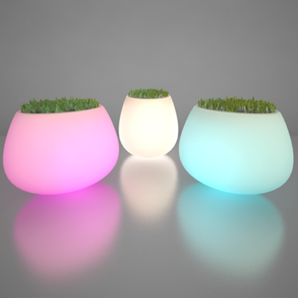 Illuminated Planter 2 - 3DOcean Item for Sale