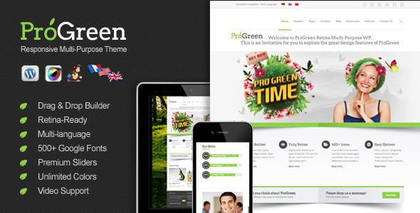 ProGreen – Retina Responsive Multi-Purpose Theme