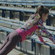 Young Girl Doing Gymnastics Exercise at the Stadiu - VideoHive Item for Sale