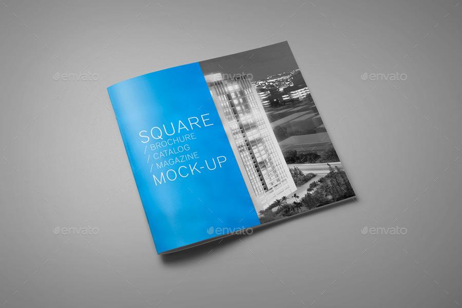 square brochure    catalog    magazine mock