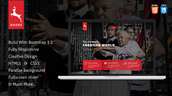 Doors Onepage Corporate Multipurpose Template - Corporate Site Templates