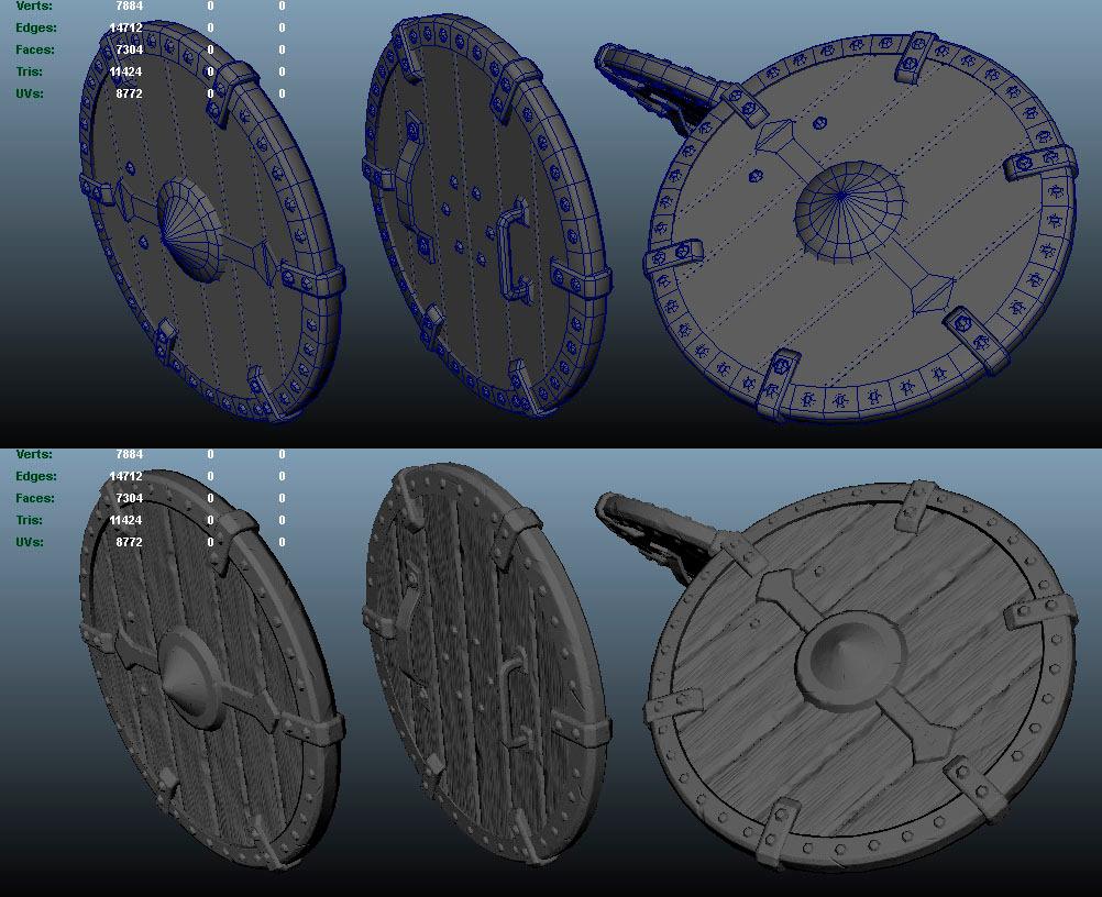 Viking Shield By Dt7 3docean