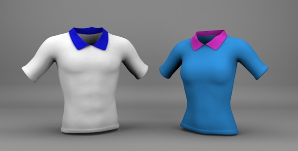Man and Woman Shirts - 3DOcean Item for Sale