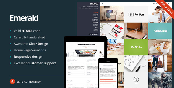 Emerald – Creative Portfolio Template