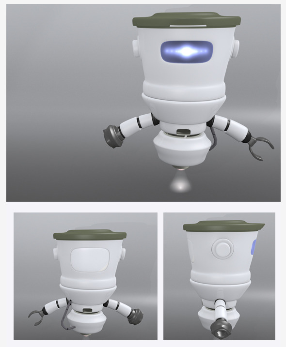 3D Robot BIG HEAD - 3DOcean Item for Sale