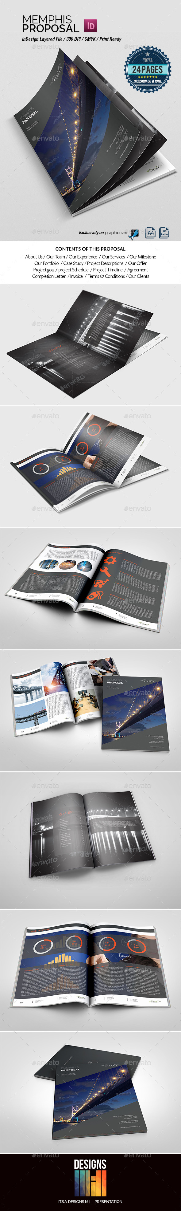 Memphis Multipurpose Proposal - Proposals & Invoices Stationery