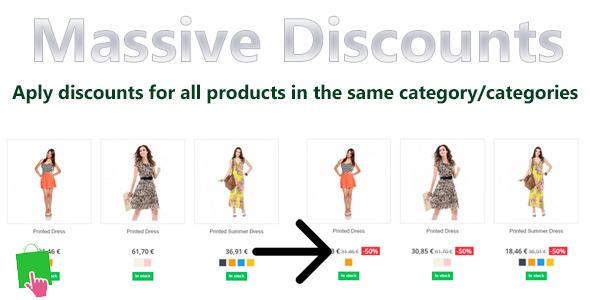 Prestashop Massive Discounts - CodeCanyon Item for Sale