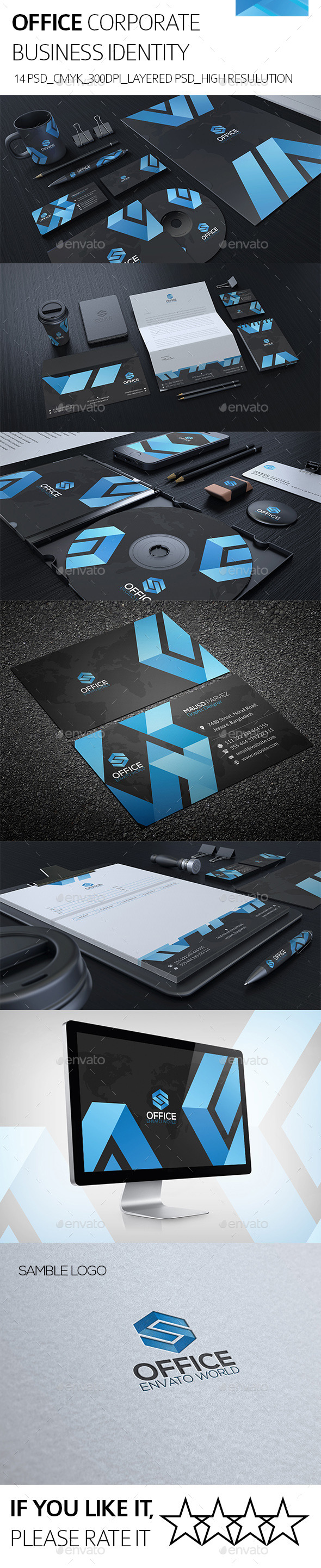 Office Corporate Identity - Stationery Print Templates