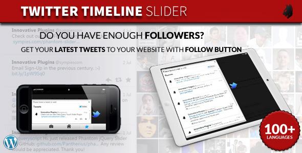 Twitter Timeline Slider for WordPress - CodeCanyon Item for Sale