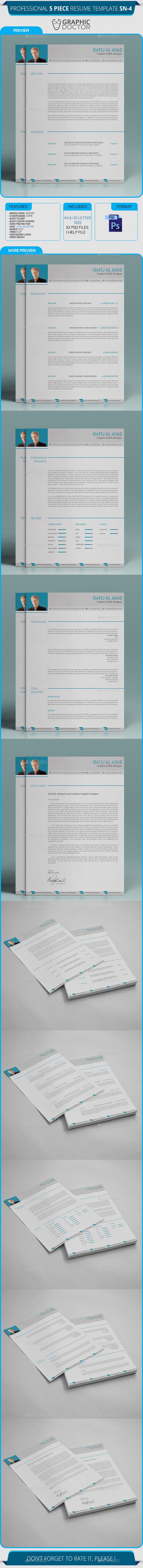 Corporate Resume Template SN-04