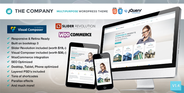 The Company - Responsive Multi-Purpose Theme