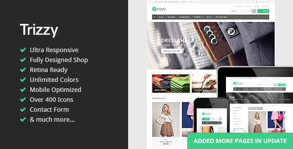Trizzy – Multi-Purpose eCommerce HTML Template