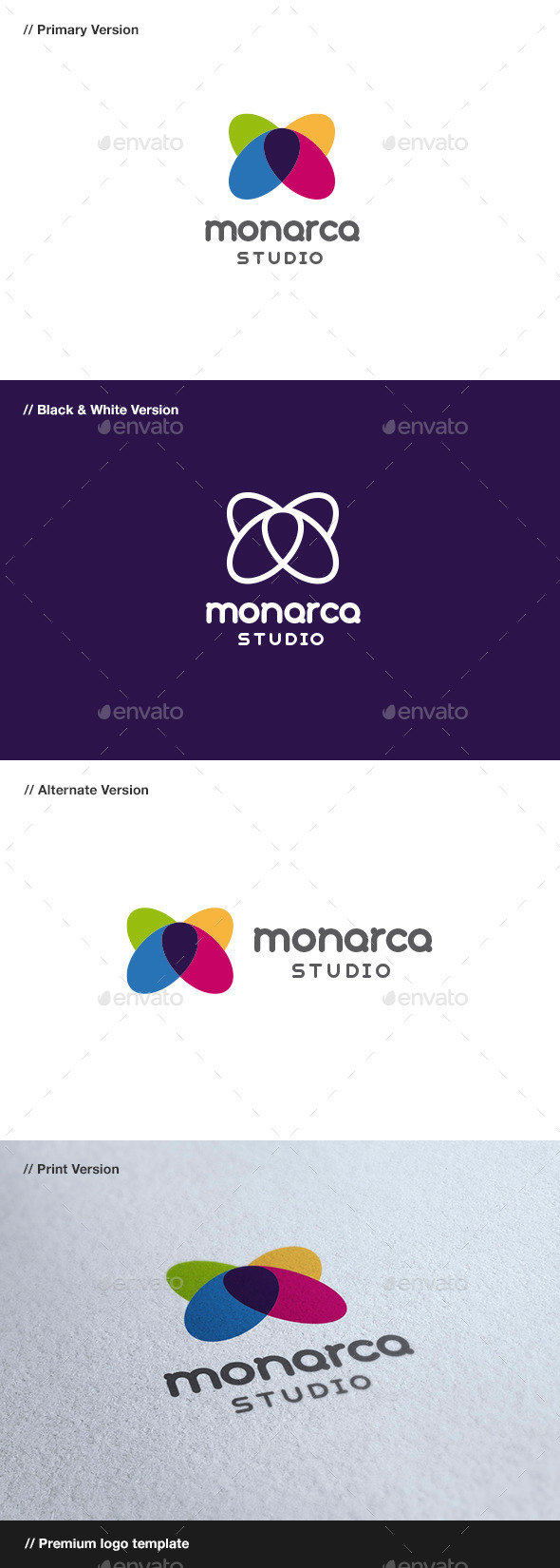 Monarca - Butterfly Logo - Animals Logo Templates
