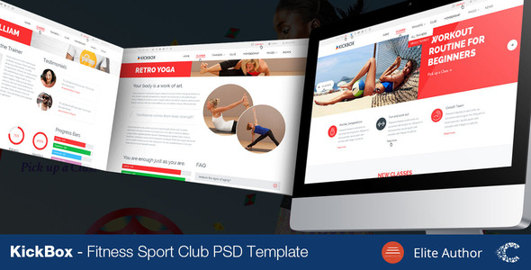 KickBox Fitness Sport Events PSD - Health & Beauty Retail
