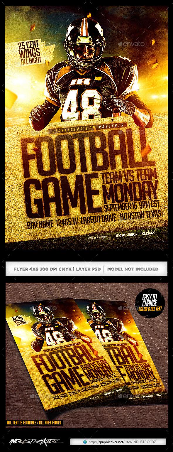 football flyer template
