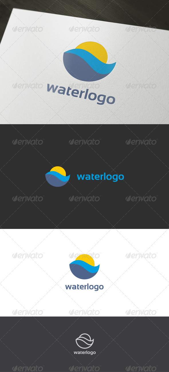 Water Logo - Nature Logo Templates