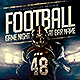 Football Game Night Flyer Template PSD - GraphicRiver Item for Sale