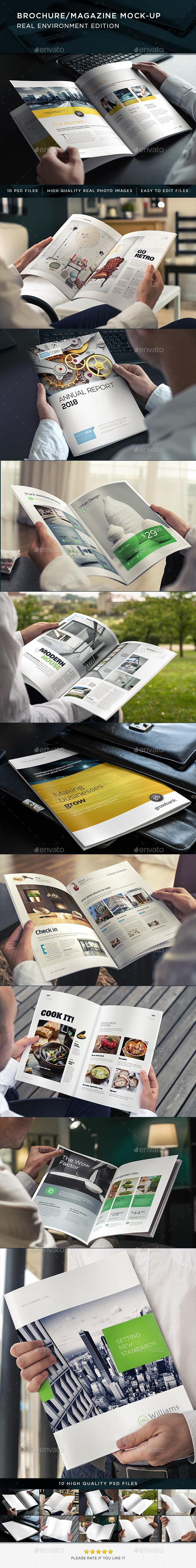 Brochure / Magazine Mock-Up - Brochures Print