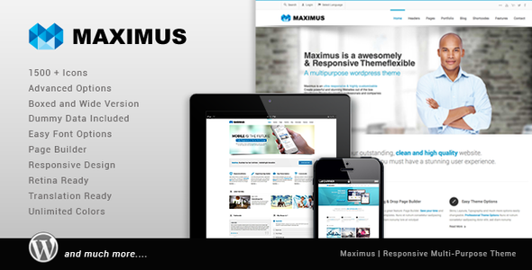 Maximus – Responsive Multi-Purpose Theme