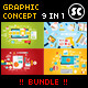 Flat Concept Bundle for Web, Design, Business etc. - GraphicRiver Item for Sale