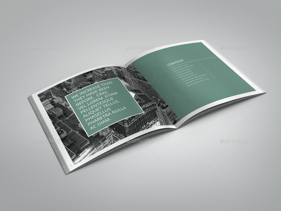 Annual Report Indesign Square Brochure By Braxas  Graphicriver