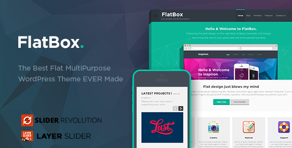 FlatBox – Flat Multipurpose WordPress Theme