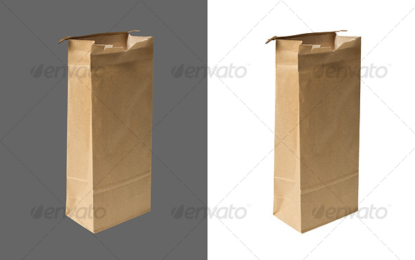 Brown Paper Bag - Home & Office Isolated Objects