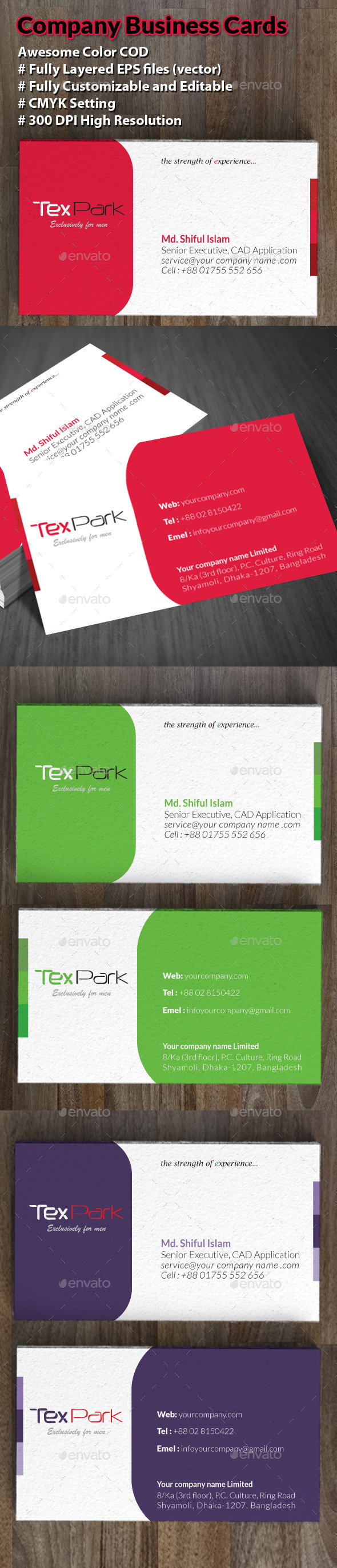 Company Business Cards - Business Cards Print Templates