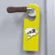 Door Handle Plate / Door Hanger Mockup - GraphicRiver Item for Sale