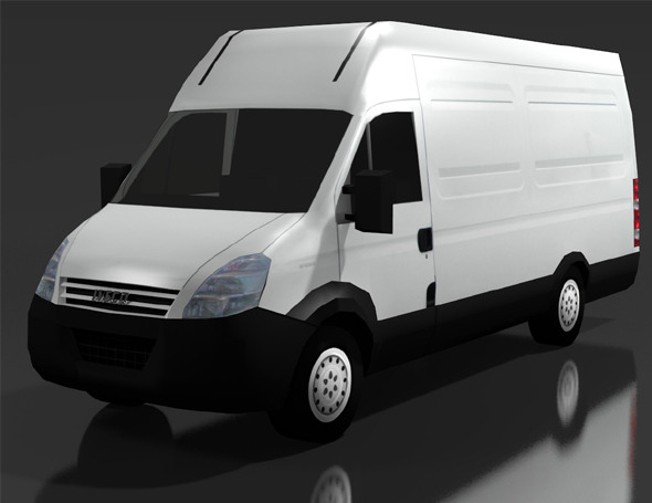 LOW POLY IVECO DAILY 50C VAN - 3DOcean Item for Sale