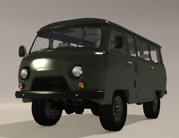 RUSSIAN MILITARY VAN  UAZ 450b - 3DOcean Item for Sale