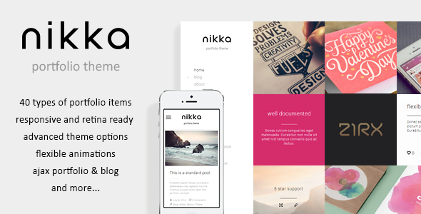 Nikka – AJAX Portfolio WordPress Theme