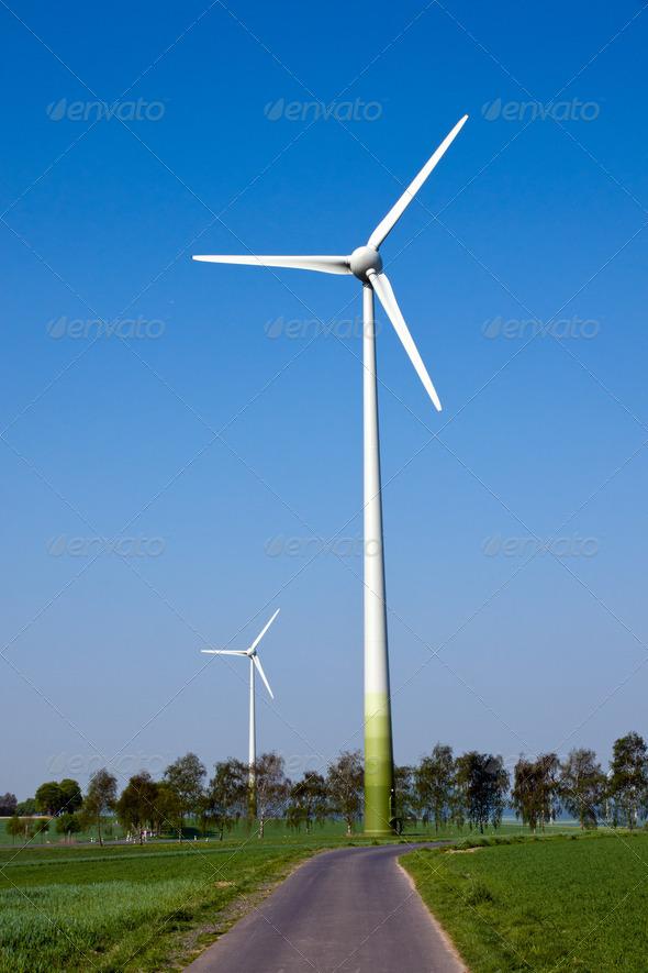 Two windwheels - Stock Photo - Images