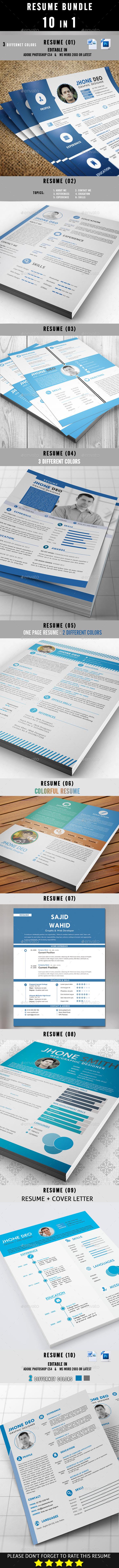 Resume Bundle 10 in 1 - Resumes Stationery