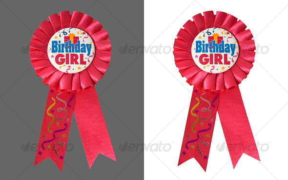 Birthday Ribbon - Activities & Leisure Isolated Objects