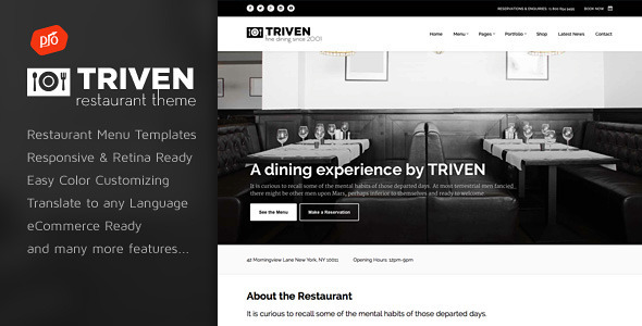 Triven - Restaurant & Winery Theme