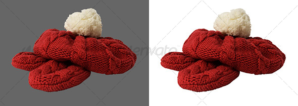 Knitted Hat and Gloves - Activities & Leisure Isolated Objects