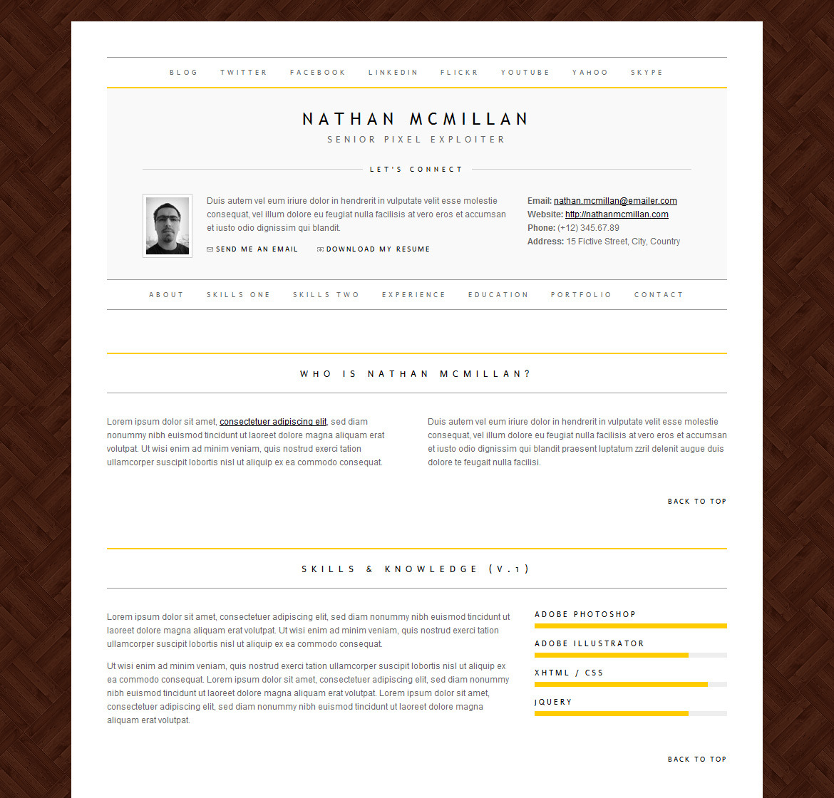 Minimalme Minimal Html Cv Resume Template By Qbkl Themeforest
