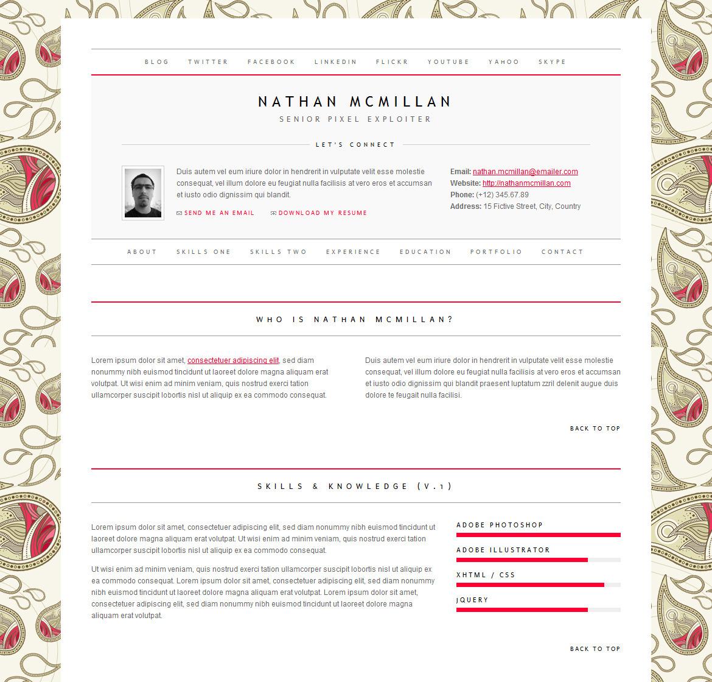 html resume templates themeforest item best free