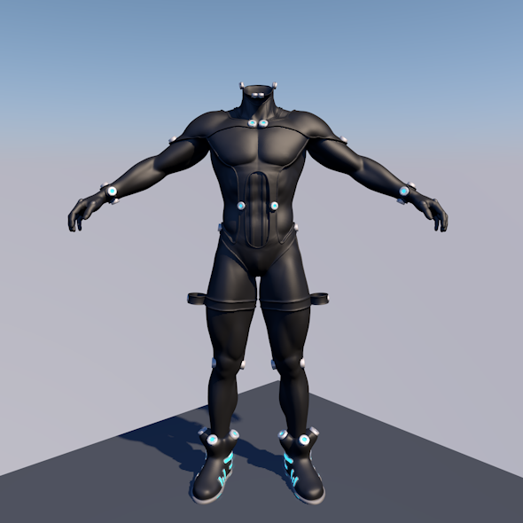 GANTZ BODY SUIT 3D MAN - 3DOcean Item for Sale
