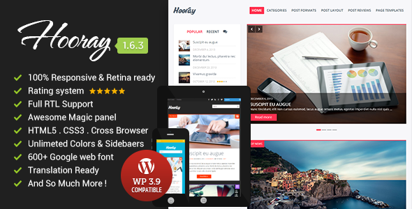 Hooray – Premium WordPress Blog Theme