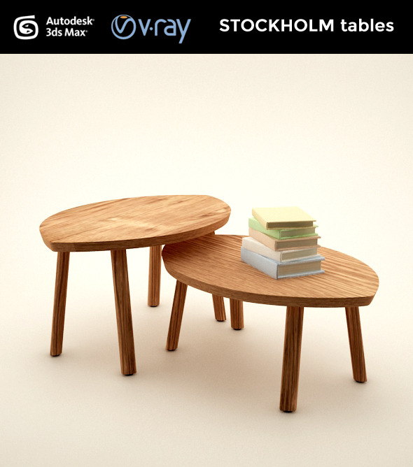 STOCKHOLM set of tables - 3DOcean Item for Sale