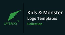 Kids & Monster Logo Collection
