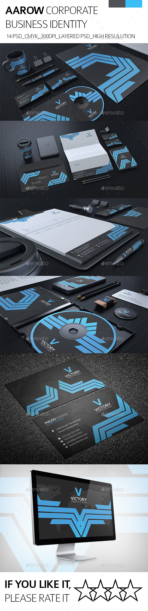 AAROW CORPORATE IDENTITY - Stationery Print Templates