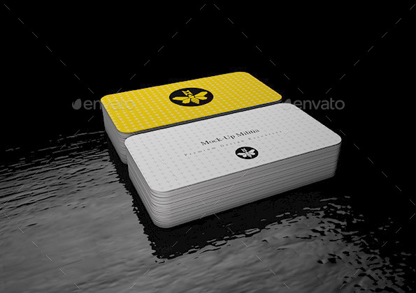 Rounded corners business card mock up stack v2 by mock up militia 45x90 round edge business card mock up s4g reheart Images