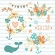 Collection of Summer Elements - GraphicRiver Item for Sale