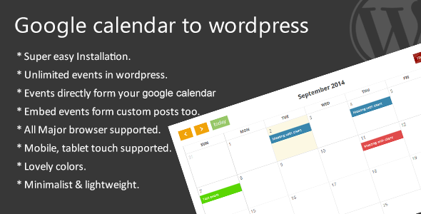 Google calendar to wordpress - CodeCanyon Item for Sale