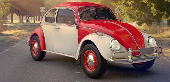 Volkswagen Beetle Old - 3DOcean Item for Sale