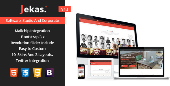 Jekas – Software & Business Bootstrap Template